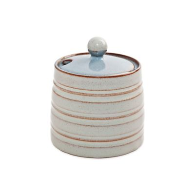 Denby Heritage Terrace Covered Sugar Bowl in Grey