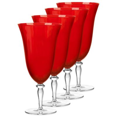 Qualia Rouge Red Iced Beverage Glasses (Set of 4)