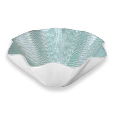 Simplydesignz Ruffle 12-Inch Bowl in Icy Mist
