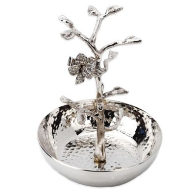 Classic Touch Jeweled Flower Ring Holder