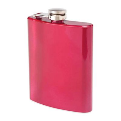 Oenophilia 6 oz. Stainless Steel Hip Flask in Ruby