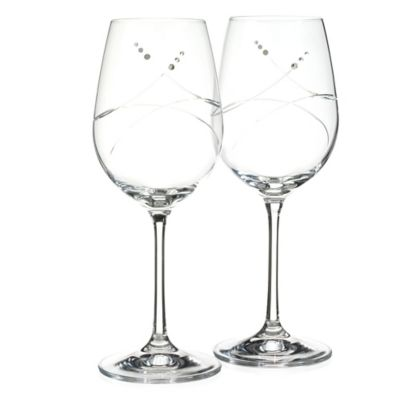 Oleg Cassini Tiara Wine Glasses (Set of 2)