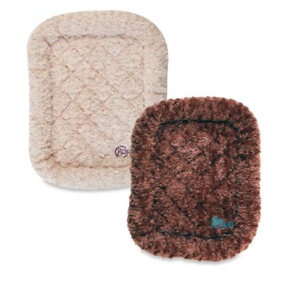 goDog® BedZzz™ Medium Bolster Shag Pet Bed in Cocoa
