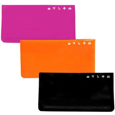 Travel Document Envelope in Black