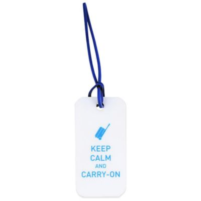 Flight 001 Keep Calm and Carry On Plastic Luggage Tag