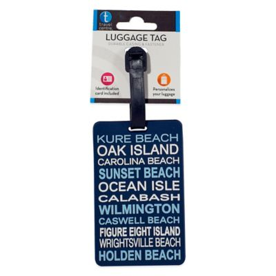 North Carolina Southern Shore Luggage Tag