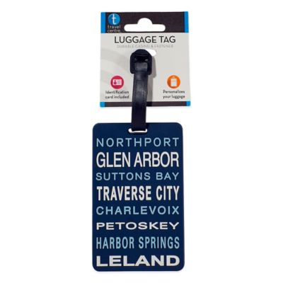 Michigan Towns Luggage Tag