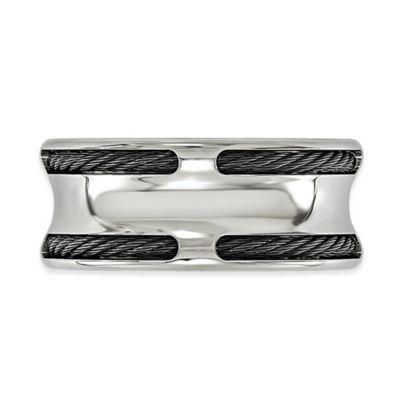 Black Silver Men's Ring