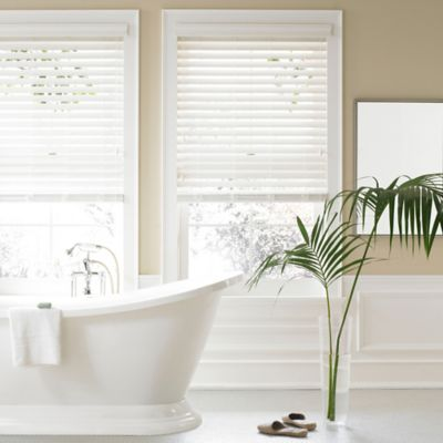 Real Simple® 2.5-Inch Faux Wood 61-Inch x 64-Inch Blind in Alabaster