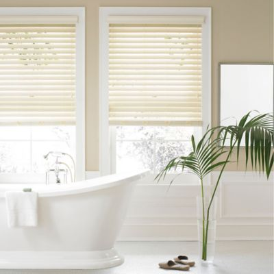 Real Simple® 2.5-Inch Faux Wood 69-Inch x 72-Inch Blind in Alabaster