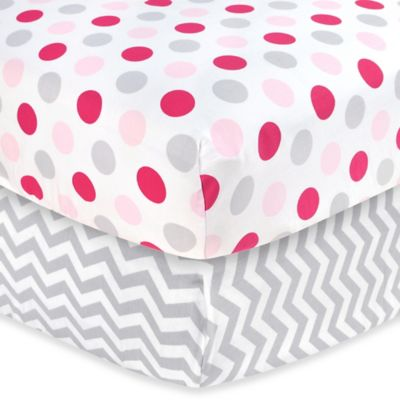 Carter's® Mix & Match Dots Woven Crib Sheet in Girl