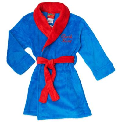 "Disney® Size 2T Superman ""Clark Kent"" Fleece Bathrobe in Blue"