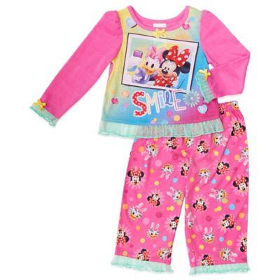 Disney® Size 2T Minnie and Daisy Selfie 2-Piece PJ Set in Pink