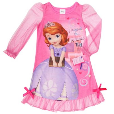 "Disney® Size 2T Sofia the First ""I Passed the Princess Test"" Ruffle Gown in Pink"