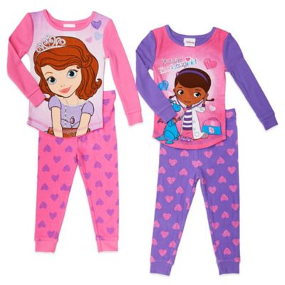 Disney® Size 2T Sofia the First and Doc McStuffins 4-Piece PJ Set