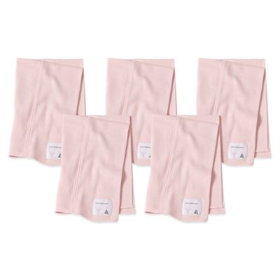 Burt's Bees Baby™ 5-Pack Organic Cotton Burp Cloths in Blossom