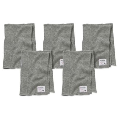 Burt's Bees Baby™ 5-Pack Organic Cotton Burp Cloths in Heather Grey