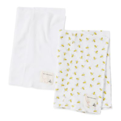 Burt's Bees Baby® 2-Pack Organic Cotton Burp Cloths in Cloud/Bee
