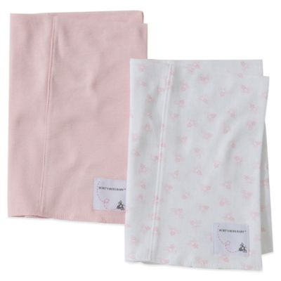 Burt's Bees Baby™ 2-Pack Organic Cotton Burp Cloths in Blossom/Pink Bee