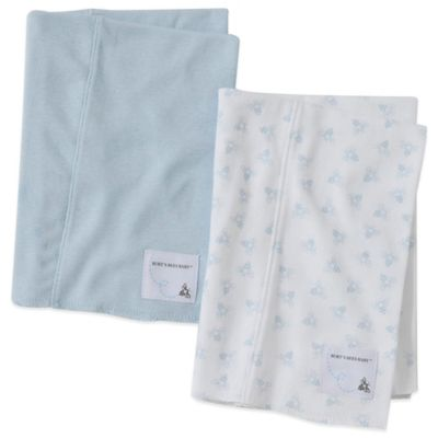 2-Pack Organic Cotton Burp Cloths in Sky/Bee