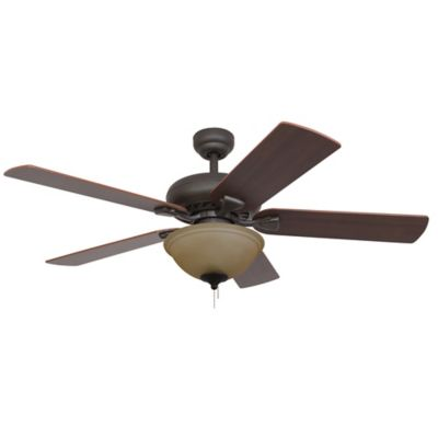 52-Inch Federal Hill Bowl Light Bronze Ceiling Fan
