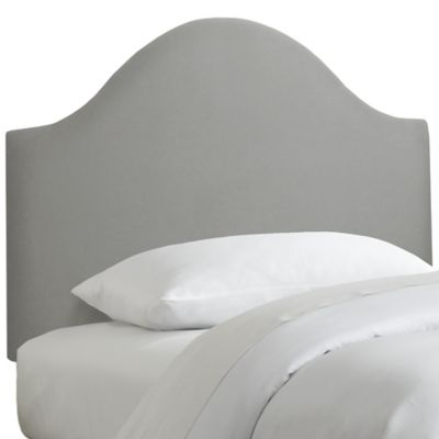 Skyline Furniture Curved Twin Headboard in Linen Grey