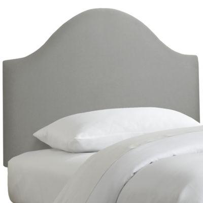 Skyline Furniture Curved Queen Headboard in Linen Grey