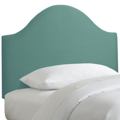 Skyline Furniture Curved Queen Headboard in Linen Laguna
