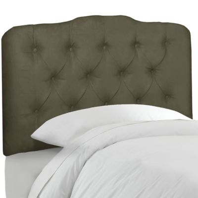 Velvet Pewter Beds & Headboards