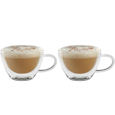 Luigi Bormioli Thermic Double-Wall Cappuccino Mugs (Set of 2)