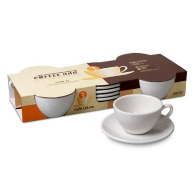 Coffee Bar by Konitz No. 3 Café Crème Mugs in White (Set of 4)