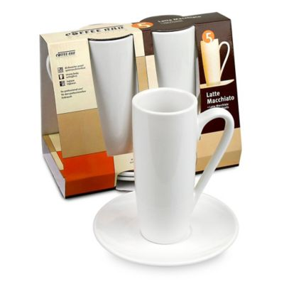 Coffee Bar by Konitz No. 5 Latte Macchiato Mugs in White (Set of 2)