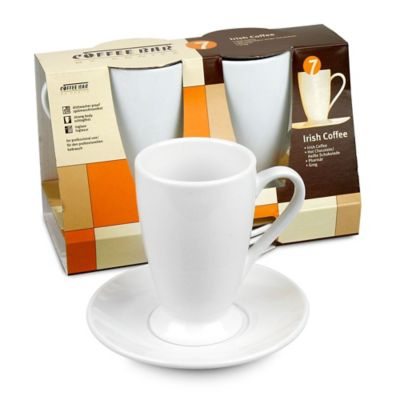 Coffee Bar by Konitz No. 7 Irish Coffee Mugs in White (Set of 2)