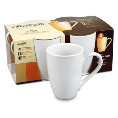 Coffee Bar by Konitz No. 9 Mugs in White (Set of 4)