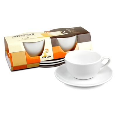 Coffee Bar by Konitz No. 11 Café Latte Cups in White (Set of 2)
