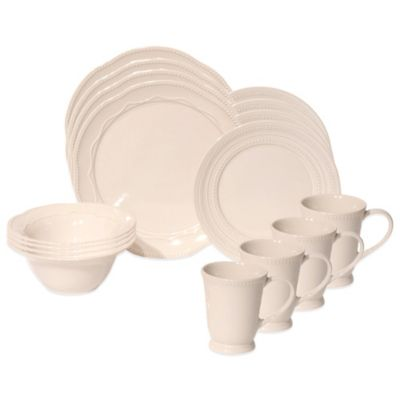 Baum Adorn 16-Piece Dinnerware Set in Ivory
