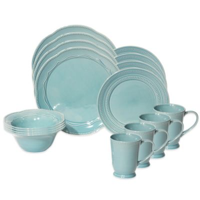 Baum Adorn 16-Piece Dinnerware Set in Turquoise