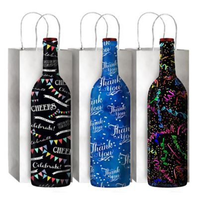 3-Pack Celebration Wine Bottle Sox