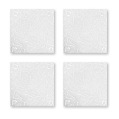 Etched Hand-Drawn Heart Coasters (Set of 4)