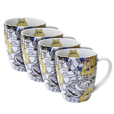 Disney® Miss Piggy Allover Mugs (Set of 4)