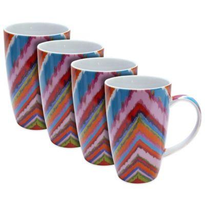 Dena™ Home Chevron Mugs (Set of 4)