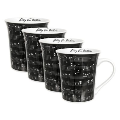 Zrike Music on Mugs (Set of 4)