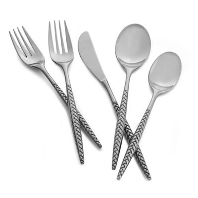 Nambe Mills Braid 5-Piece Flatware Set