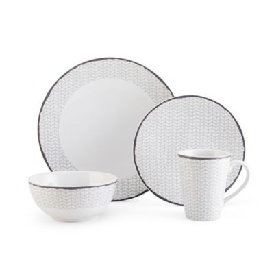 Mikasa® Avery Chevron 4-Piece Place Setting