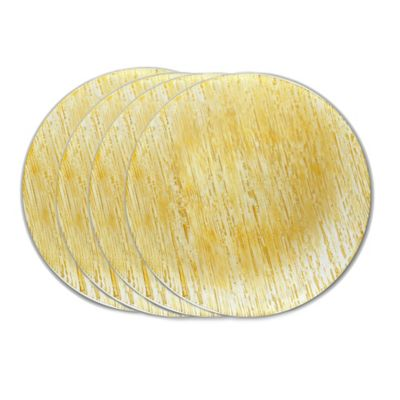 Classic Touch Trophy Charger Plates in Gold (Set of 4)