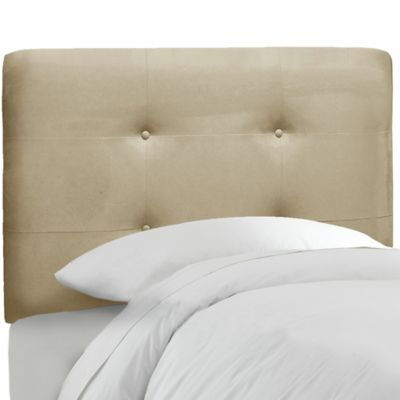 Skyline Furniture Tufted Full Headboard in Premier Oatmeal