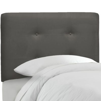 Skyline Furniture Tufted Twin Headboard in Premier Charcoal