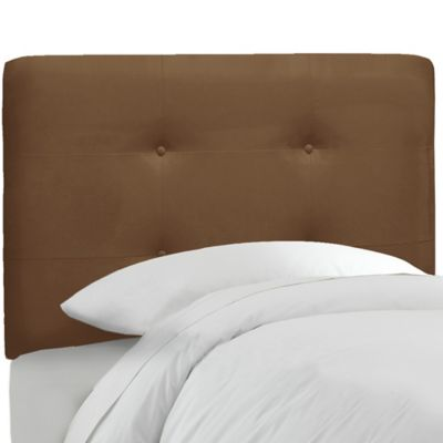 Skyline Furniture Tufted Twin Headboard in Premier Chocolate