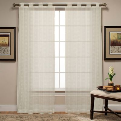 Spoolweave Natural Sheer 84-Inch Window Curtain Panel