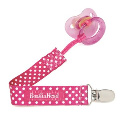 Booginhead® PaciGrip Pacifier Holder in Pink Dot
